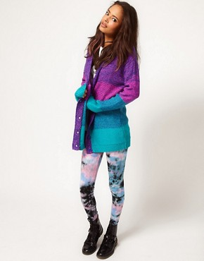 Image 4 ofASOS Bright Boyfriend Space Dye Cardigan