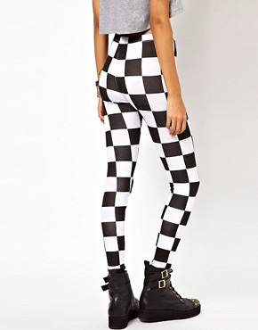 Image 2 ofASOS Legging in Checkerboard Print
