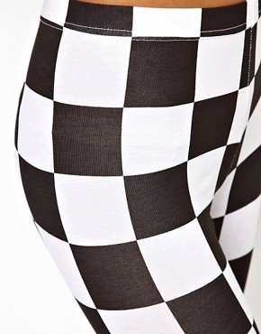 Image 3 ofASOS Legging in Checkerboard Print