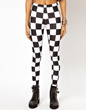 Image 4 ofASOS Legging in Checkerboard Print