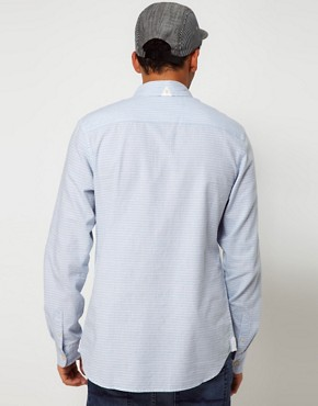 Image 2 ofAdidas Originals Chambray Shirt Horizontal Stripe