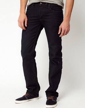 Image 1 ofDiesel Jeans Larkee Straight Fit 0806X Dark Wash