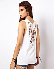 ASOS Premium Vest With Crochet Back