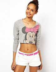 Camiseta corta con estampado de Minnie Mouse de ASOS