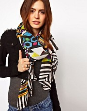 ASOS Multi Geometric Print Scarf