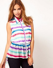 Rare Stripe Racer Back Blouse