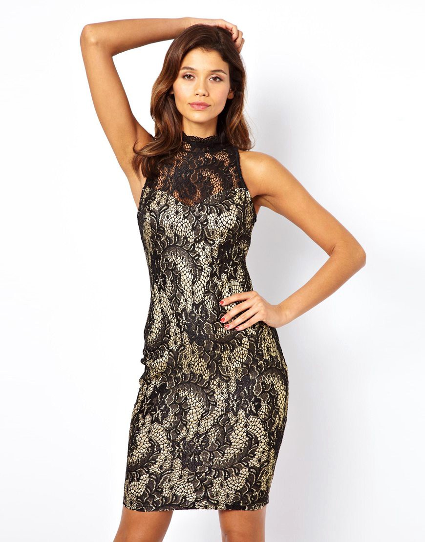 Image 1 ofLipsy Lace Dress with Open Back