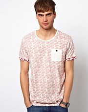 Selected Reverse Floral Print T-shirt