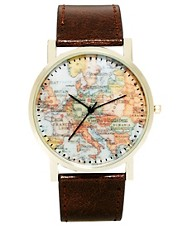 ASOS Watch With Map Print