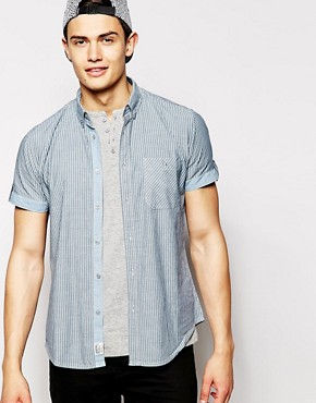 Threadbare Short Sleeved Striped Shirt