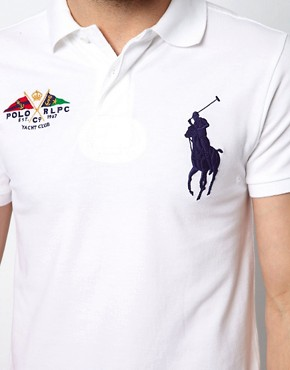 Image 3 ofPolo Ralph Lauren Slim Polo with Large Polo Player - Online Exclusive