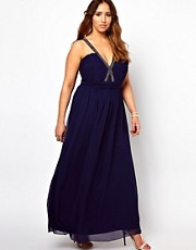 New Look Inspire Sequin V Maxi Dress