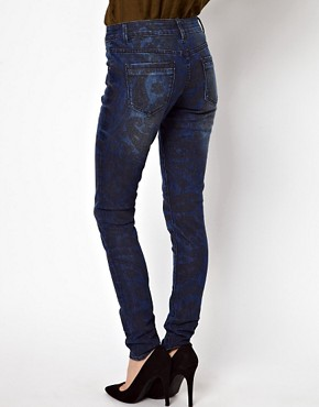 Image 2 ofASOS Skinny Jean in Vintage Wash Paisley Print