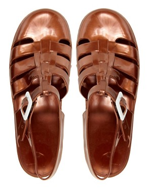 Image 4 ofJuju Maxi Copper Slingback Flat Shoes