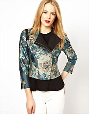 Karen Millen Jacquard Jacket in All Over Floral