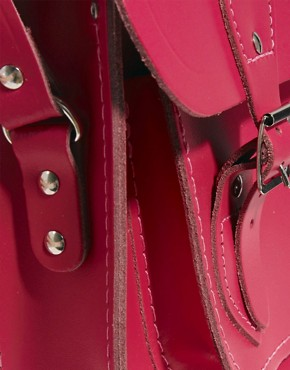 "Image 4 of Cambridge Satchel Company Pink Matte Leather 11"" Satchel Exclusive To ASOS Satchel"