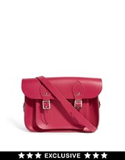 Cambridge Satchel Company  11 Zoll Satchel aus pinkfarbenem, mattem Leder; exklusiv bei ASOS erhltlich