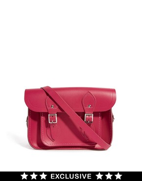 "Image 1 of Cambridge Satchel Company Pink Matte Leather 11"" Satchel Exclusive To ASOS Satchel"