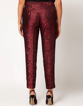 Image 2 ofASOS CURVE Peg Trouser in Jacquard