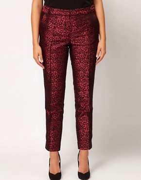 Image 4 ofASOS CURVE Peg Trouser in Jacquard