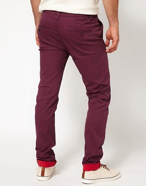 Image 2 ofASOS Skinny Chino With Contrast Turn Up