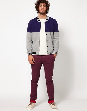 Image 4 ofASOS Skinny Chino With Contrast Turn Up