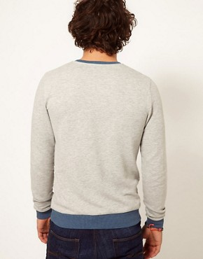 Image 2 ofASOS Sweatshirt With Contrast Ribs