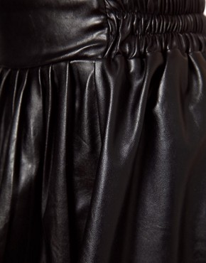 Image 3 ofGlamorous Leather Look Skater Skirt