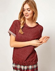 Oysho Roll Short Sleeve Inside Out Top