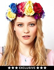 Rock &#39;n&#39; Rose  Haarreif mit bergroer Blumenkrone, exklusiv bei ASOS