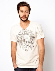 Denim & Supply Ralph Lauren  T-Shirt mit Indianerkopf-Motiv