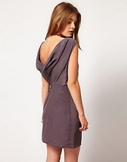 Gestuz Cowl Neck Mini Dress With Open Back