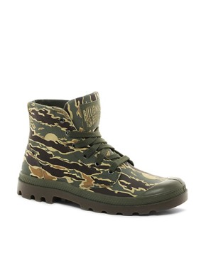 Image 1 ofBillionaire Boys Club for Palladium Pampa Hi Leather Camo Boots