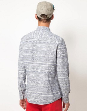 Image 2 ofASOS Chambray Shirt With Tribal Print