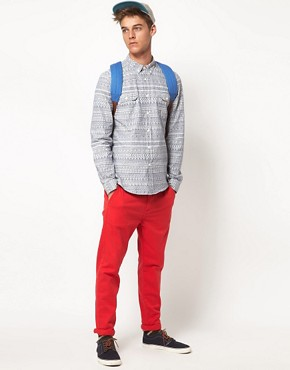 Image 4 ofASOS Chambray Shirt With Tribal Print