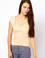 American Vintage T-Shirt with Drape Neck
