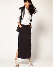 Cheap Monday Denim Maxi Skirt With Side Splits