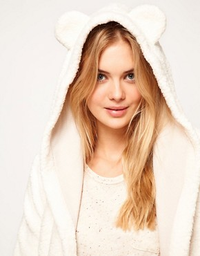Image 3 ofOysho Fluffy Robe With Animal Ears