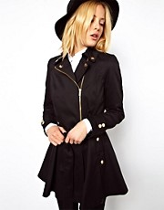 ASOS Skater Biker Trench