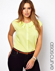 ASOS CURVE Blouse With Origami Collar