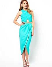 Virgos Lounge Alize Embellished Tulip Midi Dress