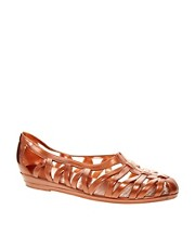 JuJu Vicky Copper Cut Out Flat Shoes