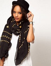 ASOS Stud Print On Oversized Scarf