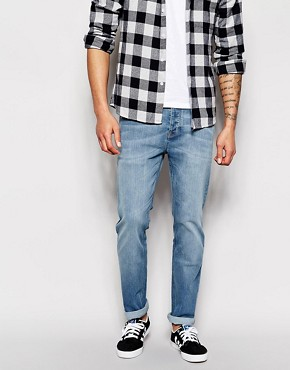 ASOS Stretch Slim Jeans In Antique Wash