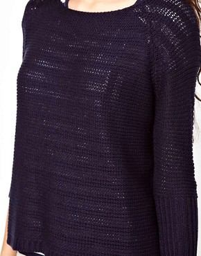 Image 3 ofVero Moda Ribbed Oversize Knit Boat Neck Jumper