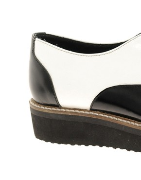 Image 2 ofASOS MOUSE Leather Flat Shoes