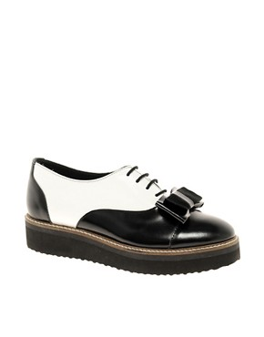 Image 1 ofASOS MOUSE Leather Flat Shoes