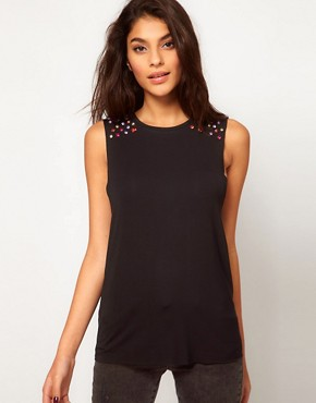 Image 1 of Glamorous Top with Gem Embellishment