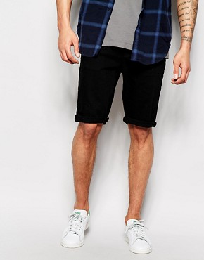 Hoxton Denim Shorts Jet Black Denim