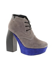 DV8 Gobi Grey Platform Ankle Boots